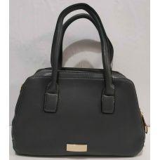 Женская сумка на два отделения (серая) 19-11-046