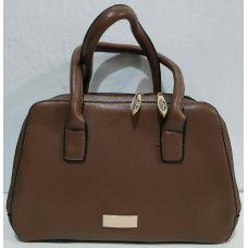 Женская сумка на два отделения (коричневая) 19-11-046
