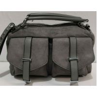 Женская стильная сумка кросс-боди (серая) 19-11-047