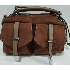 Женская стильная сумка кросс-боди (коричневая) 19-11-047