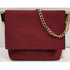 Женская стильная сумка-клатч (бордовый) 19-11-048