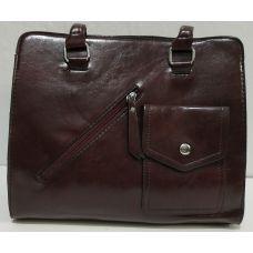 Женская сумка с карманом (бордовая) 19-11-050