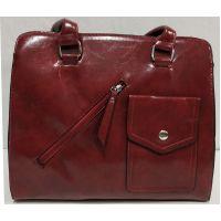 Женская сумка с карманом (красная) 19-11-050