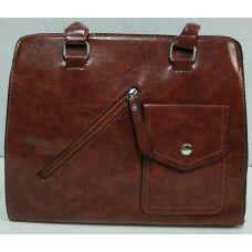 Женская сумка с карманом (рыжая) 19-11-050