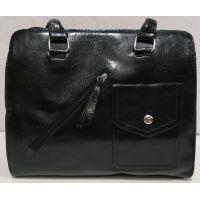 Женская сумка с карманом (чёрная) 19-11-050
