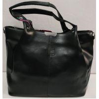 Женская глянцевая  сумка (чёрная) 19-11-051