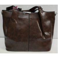 Женская глянцевая  сумка (коричневая) 19-11-051