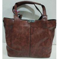 Женская глянцевая  сумка (бордовая) 19-11-051