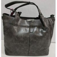 Женская глянцевая  сумка (серая) 19-11-051