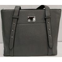 Женская вместительная  сумка (серая) 19-11-052