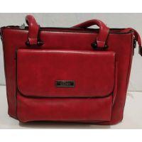 Женская сумка с карманом (красная) 19-11-053