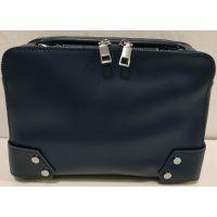 Женский каркасный клатч-сумка (синяя) 19-11-054