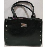 Женская глянцевая сумка (чёрная) 19-11-055