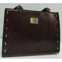 Женская глянцевая сумка (коричневая)19-11-055