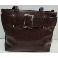 Женская вместительная сумка (коричнева) 19-11-056