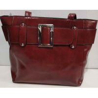 Женская вместительная сумка (красная) 19-11-056