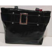 Женская вместительная сумка (чёрная)  19-11-056