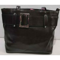 Женская вместительная сумка (шоколадная) 19-11-056