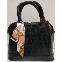 Женская глянцевая сумка (чёрная) 20-01-002