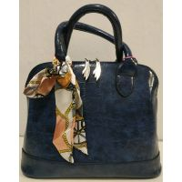 Женская глянцевая сумка (синяя) 20-01-002
