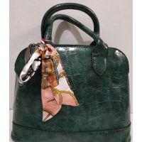 Женская глянцевая сумка (зелёная) 20-01-002