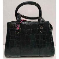 Женская глянцевая сумка (чёрная) 20-01-006