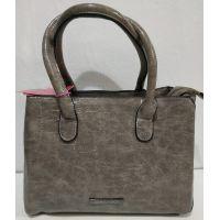 Женская классическая сумка (серая) 20-01-008
