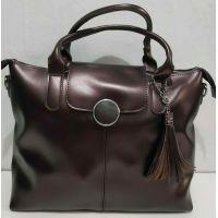 Женская сумка с кисточкой (шоколадная) 20-01-021