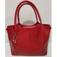 Женская сумка с брелком (красная) 20-01-063