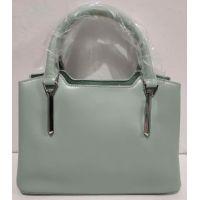 Женская небольшая кожаная сумочка (мятная) 20-02-007