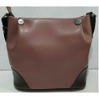 Женская комбинированная сумка через плечо (бургунд) 20-02-014