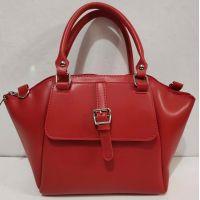 Женская сумка с карманом (красная) 20-02-015