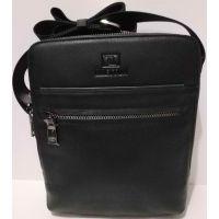Мужская кожаная сумка Bretton (чёрная) 20-10-074