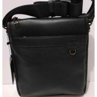 Мужская кожаная сумка Bretton (чёрная) 20-10-075