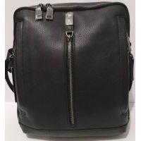Мужская кожаная сумка Bretton (чёрная) 20-10-080