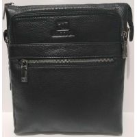 Мужская кожаная сумка Bretton (чёрная) 20-10-081