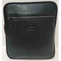 Мужская кожаная сумка Bretton (чёрная) 20-10-082