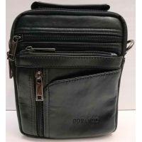 Мужская кожаная сумка Gorangd (чёрная) 20-12-025