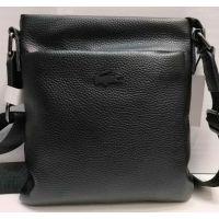 Мужская кожаная сумка - планшет  (чёрная) 20-12-030