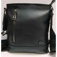 Мужская кожаная сумка - планшет  (чёрная) 20-12-031