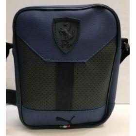 Мужская сумка через плечо   (синяя) 20-12-035