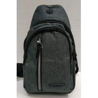 Мужская сумка бананка-рюкзак (серая) 21-04-061