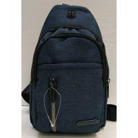 Мужская сумка бананка-рюкзак (чёрная) 21-04-062