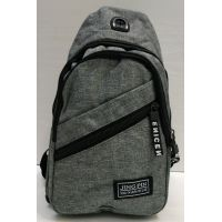 Мужская сумка бананка-рюкзак (сераяя) 21-04-063