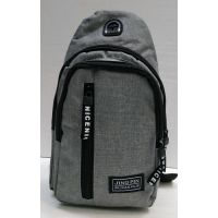 Мужская сумка бананка-рюкзак (серая) 21-04-065