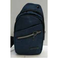 Мужская сумка бананка-рюкзак (синяя) 21-04-067