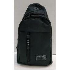Мужская сумка бананка-рюкзак (чёрная) 21-04-068