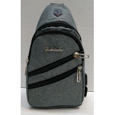Мужская сумка бананка-рюкзак (серая) 21-04-069