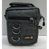 Мужская тканевая сумка  (серая) 21-04-076