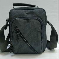 Мужская тканевая  сумка Lanpad  (серая) 21-05-027